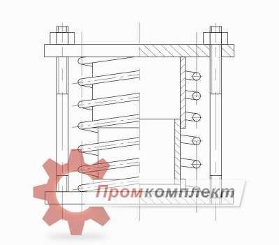 Блок пружинный схема