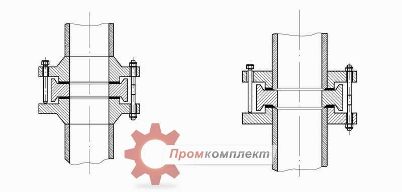 Фланцевые соединения для камерных измерительных диафрагм чертеж