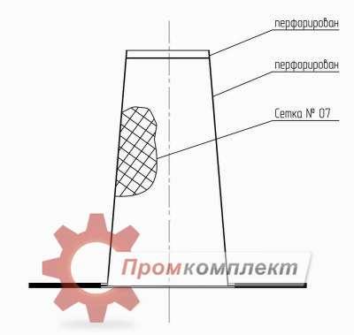 Фильтр временный (чертеж)
