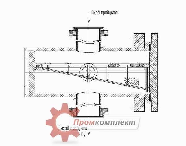 Грязеуловитель для всасывающего трубопровода (схема)