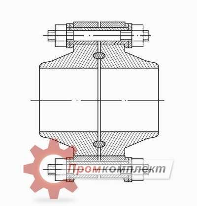 Изолирующее фланцевое соединения (ИФС) (чертеж)