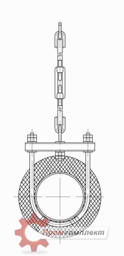 Опора трубопровода подвесная схема