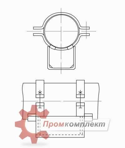 Опора стальных технологических трубопроводов схема