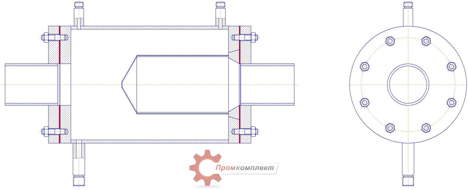 Фильтр газовый сетчатый прямоточный ФГП фото