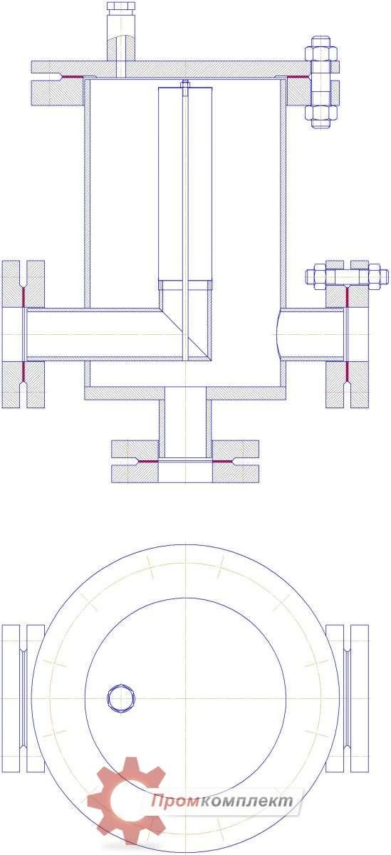 Фильтр газовый фланцевый чертеж