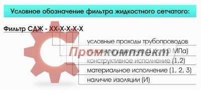 Фильтры жидкостные сетчатые для трубопроводов (СДЖ)